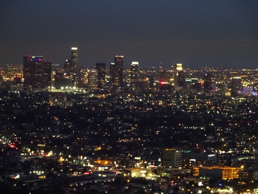 los angeles california downtown night griffith observatory airbnb rental